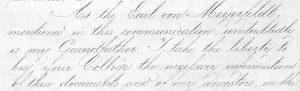 Brief van Carl von Meijenfeldt aan de Universiteit van Helsingfors 1876